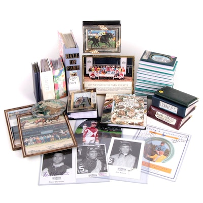 Personal Assemblage of Racing and Track Photographs, Mementos and Cards