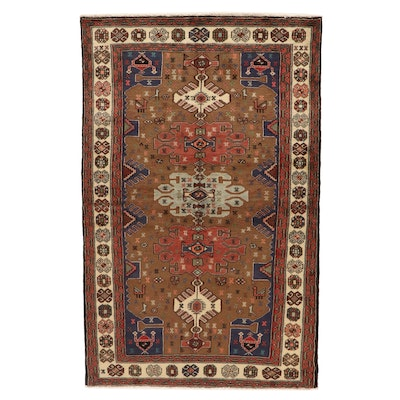 4'3 x 6'8 Hand-Knotted Northwest Persian Wool Area Rug