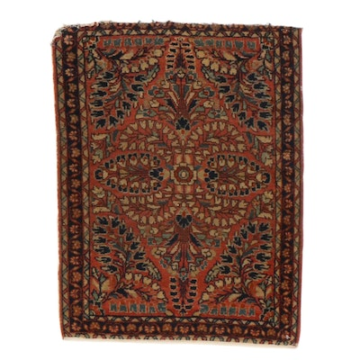 1'10 x 2'5 Hand-Knotted Persian Sarouk Rug, 1920s