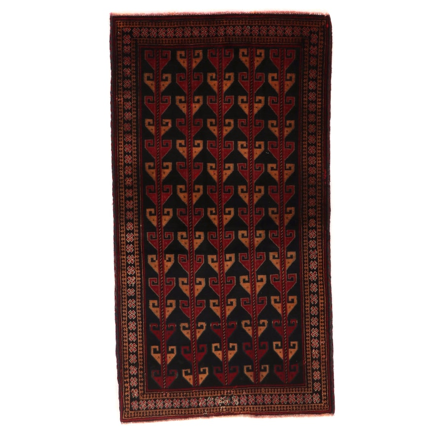 3'4 x 6'2 Hand-Knotted Afghan Baluch Area Rug