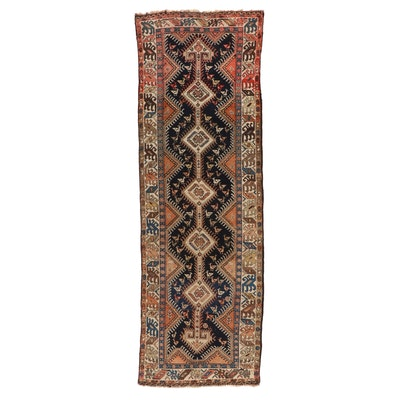 2'8 x 10'4 Hand-Knotted Persian Luri Wool Carpet Runner