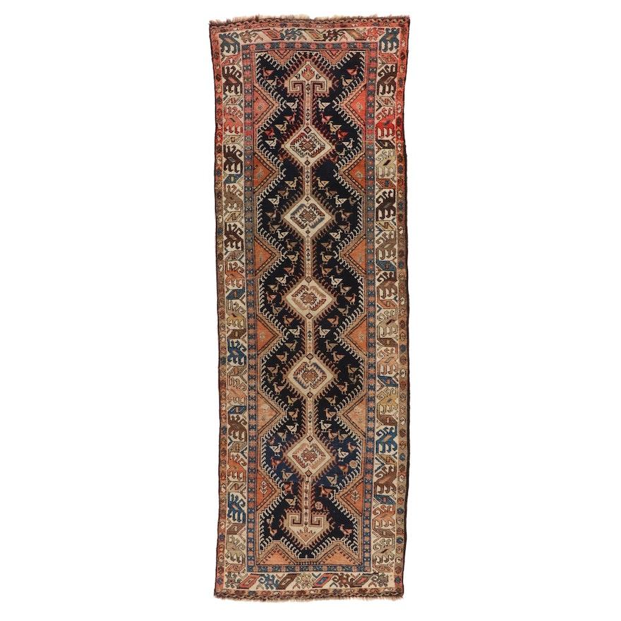 2'8 x 10'4 Hand-Knotted Persian Luri Wool Carpet Runner