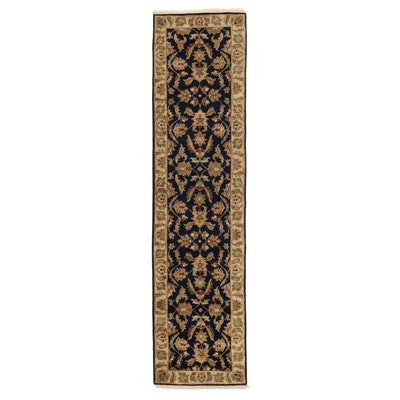 2'7 x 10'5 Hand-Knotted Indo-Persian Tabriz Carpet Runner, 2010s