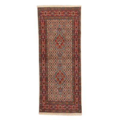 2'7 x 6'5 Hand-Knotted Persian Moud Khorasan Rug, 1970s