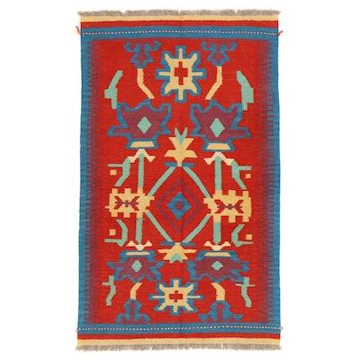3'2 x 5'3 Handwoven Afghan Kilim Accent Rug