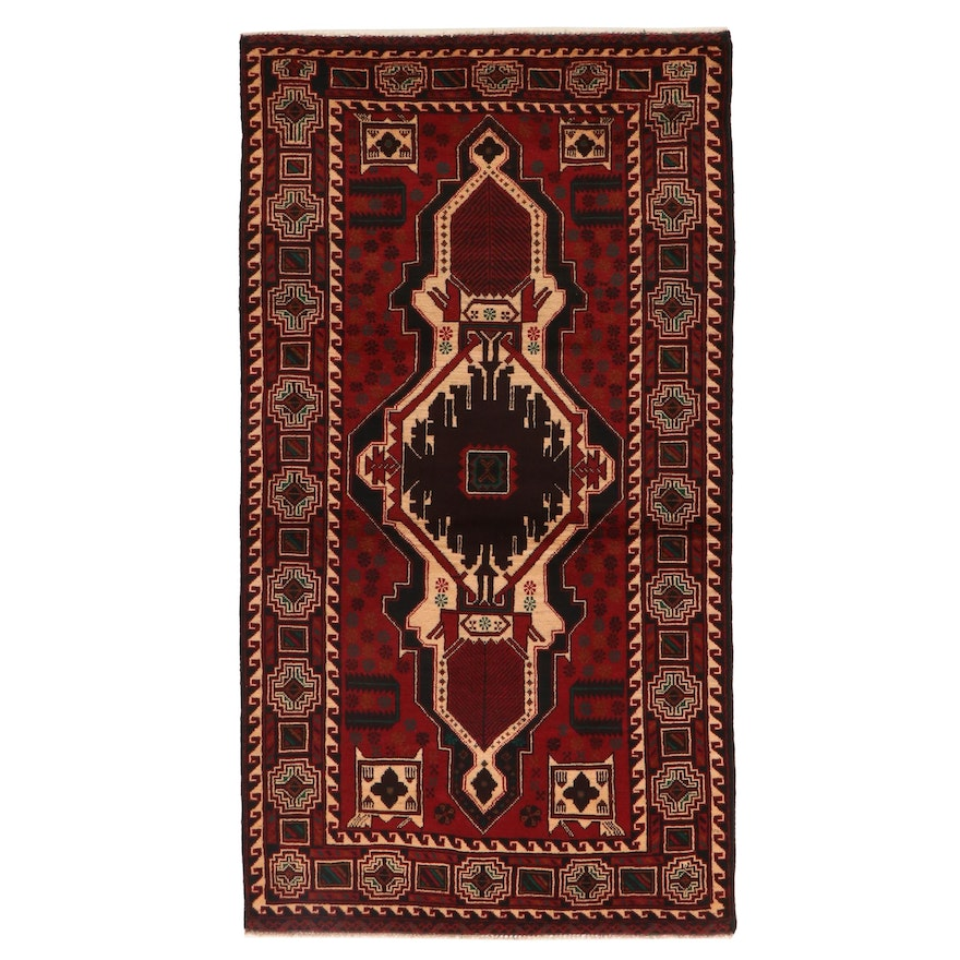3'8 x 6'10 Hand-Knotted Wool Area Rug