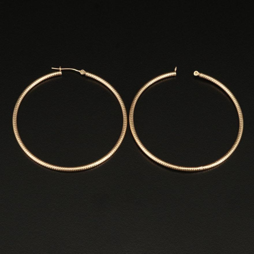 14K Scrap Earrings