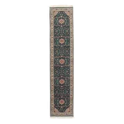 2'6 x 12'2 Hand-Knotted Indo-Persian Tabriz Carpet Runner, 2010s