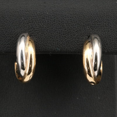 14K Two-Tone Earrings