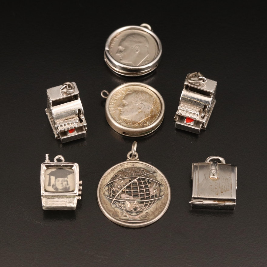 Vintage Coin and Cash Related Jewelry Featuring Silver Roosevelt Dimes