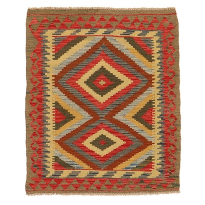 3' x 3'4 Handwoven Afghan Kilim Accent Rug