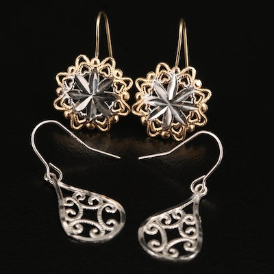 14K Wirework Earrings
