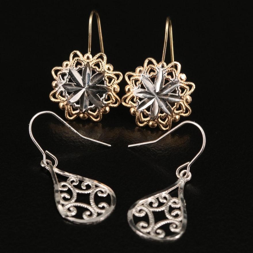 14K Wirework Earrings