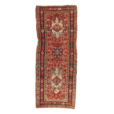 2'0 x 5'0 Hand-Knotted Persian Heriz Rug, 1920s