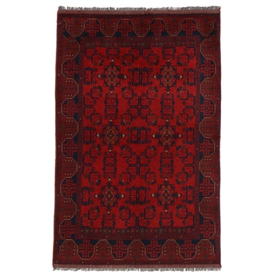 4'4 x 6'11 Hand-Knotted Afghan Kunduz Wool Area Rug