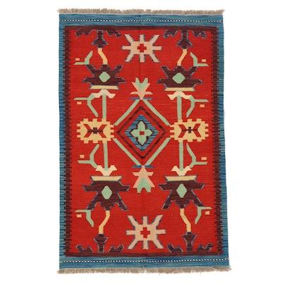 3'2 x 4'10 Handwoven Afghan Kilim Accent Rug