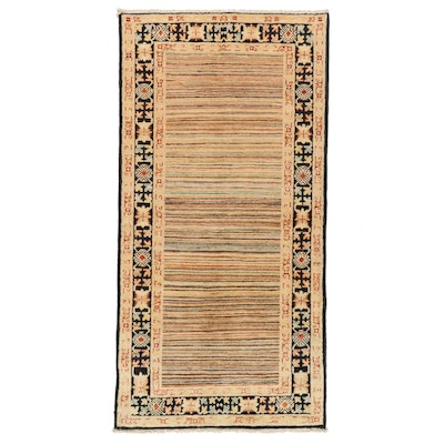 3'2 x 6'5 Hand-Knotted Afghan Wool Area Rug