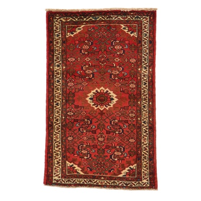 2'7 x 4'1 Hand-Knotted Persian Zanjan Rug, 1980s
