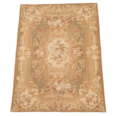 4'3 x 6' Handwoven Chinese Aubusson Style Wool Area Rug