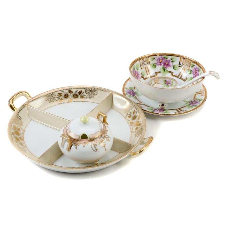 Noritake Hand-Painted Porcelain Serveware With Chikaramachi Serving Tray