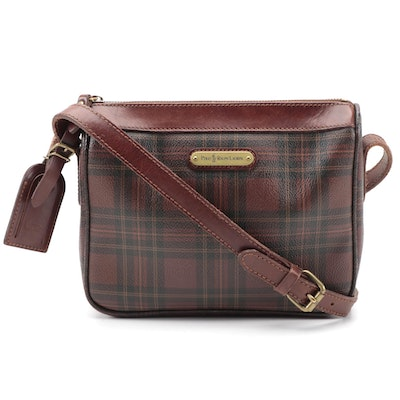 Polo Ralph Lauren Stewart Tartan Collection Crossbody in Coated Canvas