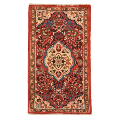 2'2 x 3'10 Hand-Knotted Persian Lilihan Rug, 1980s