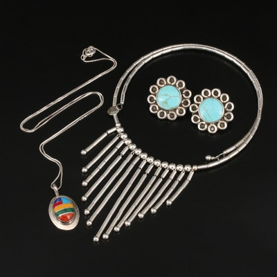 Sterling Jewelry Featuring Relios Fringe Collar and Gemstone Accents