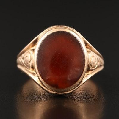 Vintage 10K Sard Ring