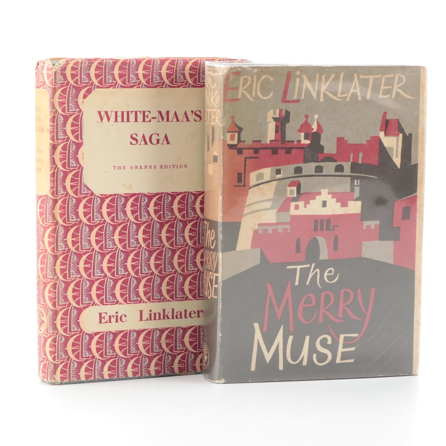 """First UK Edition """"The Merry Muse"""" and More by Eric Linklater, 1950s"""