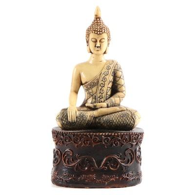 Tibetan Style Resin Buddha Figurine