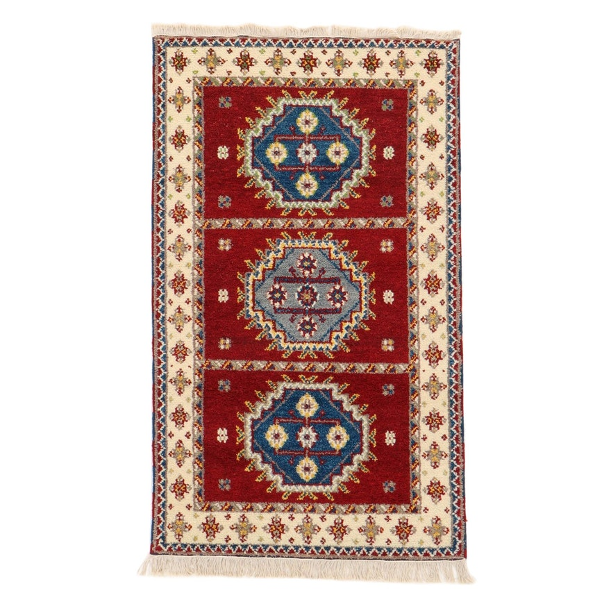 3'1 x 5'5 Hand-Knotted Indo-Persian Serab Rug, 2000s