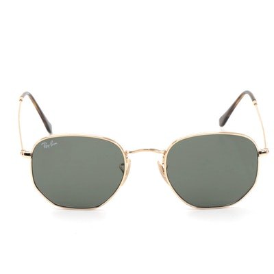 Ray-Ban RB3548N Hexagonal Frame Sunglasses with Case