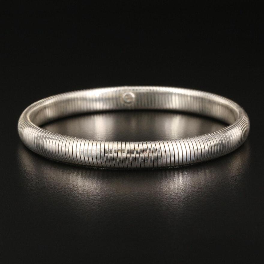 Sterling Expandable Omega Bracelet