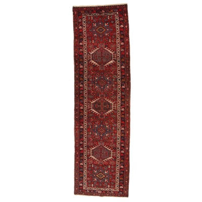 3' x 10'8 Hand-Knotted Persian Karaja Wool Carpet Runner