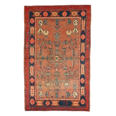 3'11 x 6'4 Hand-Knotted East Turkestan Khotan Wool Area Rug