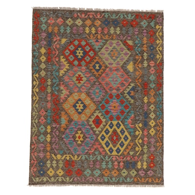 5'0 x 6'8 Handwoven Turkish Village Kilim Rug, 2010s