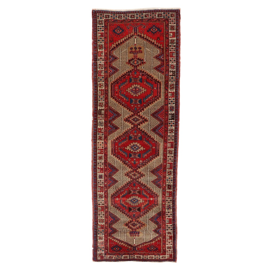 3'5 x 9'10 Hand-Knotted Persian Sarab Wool Long Rug