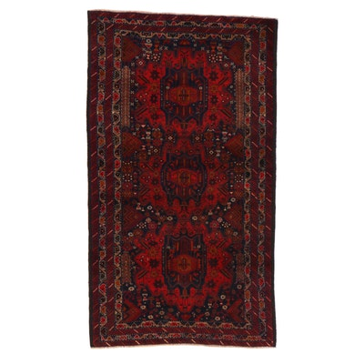 3'6 x 6'3 Hand-Knotted Persian Baluch Rug, 2000s