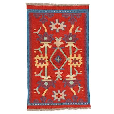 2'6 x 4'3 Handwoven Afghan Kilim Accent Rug