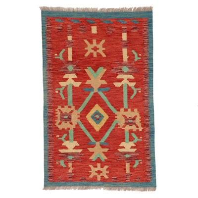 2'8 x 4'5 Handwoven Afghan Kilim Accent Rug