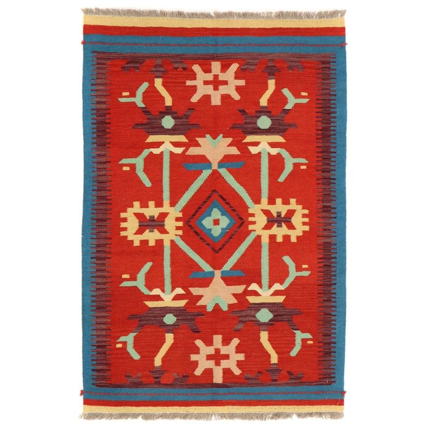 3'3 x 5' Handwoven Afghan Kilim Accent Rug