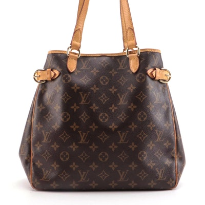 Louis Vuitton Batignolles Vertical Shoulder Bag in Monogram Canvas
