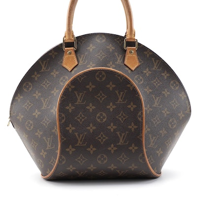 Louis Vuitton Ellipse MM in Monogram Canvas and Vachetta Leather