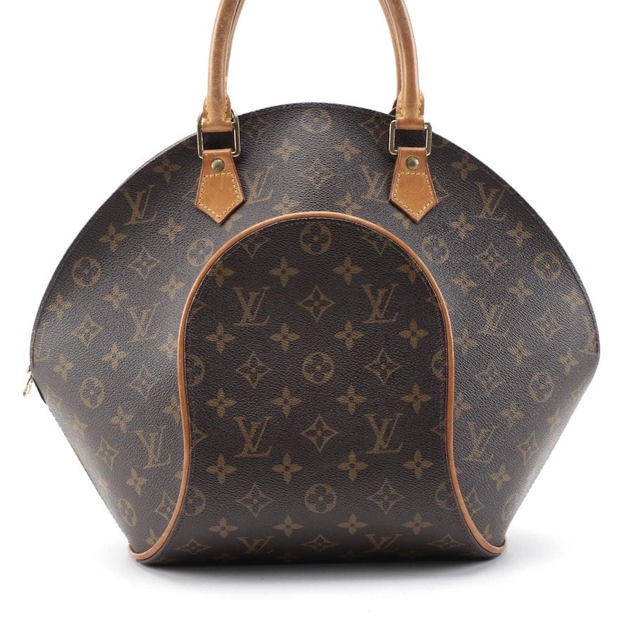 Louis Vuitton Ellipse MM in Monogram Canvas and Vachetta Leather