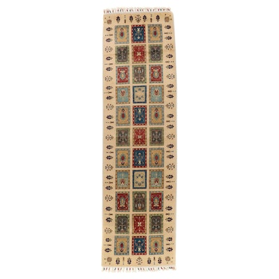2'10 x 10'5 Hand-Knotted Afghan Wool Carpet Runner