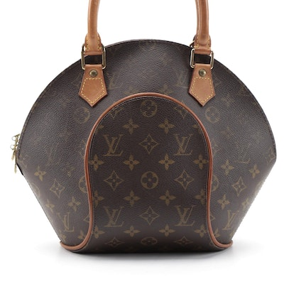 Louis Vuitton Ellipse PM in Monogram Canvas and Vachetta Leather