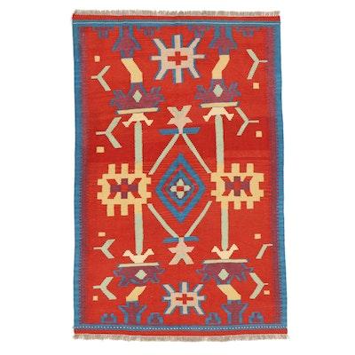 4'1 x 6'5 Handwoven Afghan Kilim Area Rug