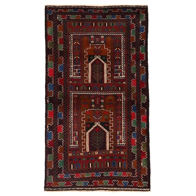 3'7 x 6'5 Hand-Knotted Afghan Baluch Prayer Rug