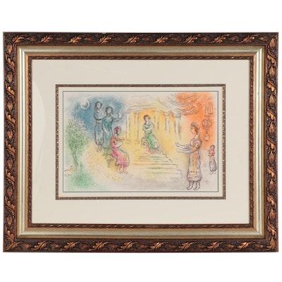 "Marc Chagall Color Lithograph ""Ulysse chez Alkinoüs,"" 1975"