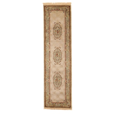 2'8 x 10' Hand-Knotted Indo-Persian Tabriz Carpet Runner, 2000s
